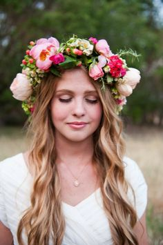 still like the crazy ones from Bowery Hotel's midsummer party - but these are cute :: flower crown lipusciously full midsummer queen crown for a forest maiden fairytale