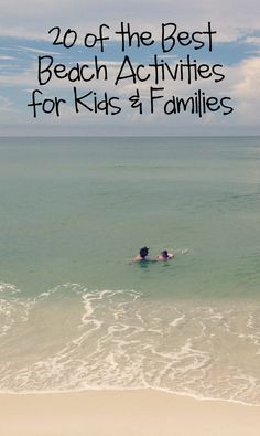 We are total beach bums, so I've compiled 20 of the best beach activities for kids & families for your vacation or home. #BareFeetontheBeach #kids #play
