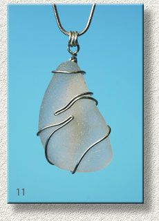sea glass pendant by Tony Davies