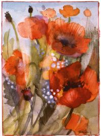 """Shirley Trevena, author of """"Taking Risks With Watercolor"""" is one of my favs."""