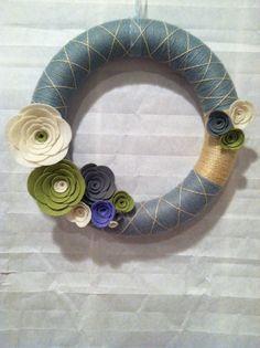 """12"""" Handmade Yarn wreath"""