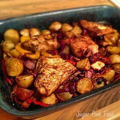 Sugar Pink Food: Recipe:- Slimming World Friendly Easy Peasy Chicken Bake