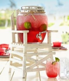 LIFEGUARD DRINK DISPENSER STAND ($39.50)   8 Fab Finds For The Fourth on The Mindful Shopper!