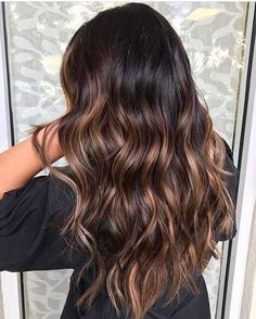 6 Hot Partial Highlights Ideas for Brunettes 4 - Partial Highlights For Dark Hair
