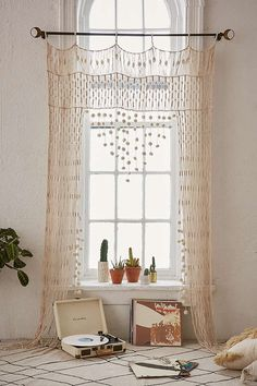 NO cortinas Crochet Portal Boho Curtains, Macrame Curtain, Crochet Curtains, Window Curtains, Curtains 2018, Pom Pom Curtains, Patterned Curtains, Elegant Curtains, Vintage Curtains