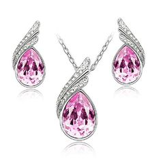 Water Drop Cubic Zircon Silver Plated Drop pendent - Brought to you by Avarsha.com