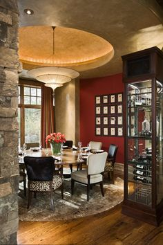 Note:  Ceiling treatment  Mountain Dream Homes byLocati - Style Estate -