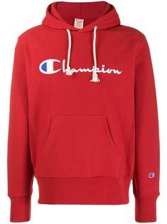 Champion Overhead Jacket With Logo Sleeve Print In Red - Red Red Champion Hoodie, Champion Logo, Champion Brand, Red Hoodie Men, Logo Stamp, Streetwear Fashion, Size Clothing, Women Wear, Sleeves
