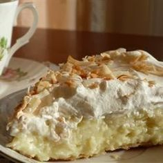 Old Fashioned Coconut Cream Pie | Cucina de Yung ~ This is a tried-and-true, old-fashioned coconut cream pie.  A must have with tea.