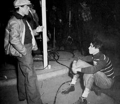 """Frank Capra and Jimmy Stewart on the set of """"It's a Wonderful Life"""""""