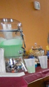 Star Wars  To Make Yoda Soda:  2 Containers of Lime Sherbet  1 Container of Minute Maid Limeade  2 Liters of Sprite