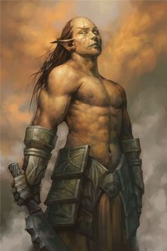 Voldur: Half-elf, half-orc (3.5) If you read it, you'll want to play it. Promise.