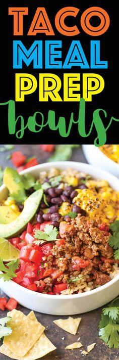 Ground Chicken Recipes Healthy Burrito Bowls
