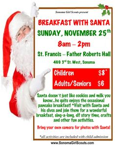 breakfast with santa fundraiser