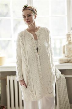 Sandnes Yarn, Book #1413 | Fantastic cardigan