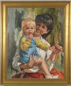 Mother And Child, Paintings, Children, Art, Mother Son, Young Children, Art Background, Boys, Paint