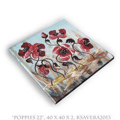 "KSAVERA ""Mohnblumen"" impressionismus Gemälde von ksavera-art auf DaWanda.com"