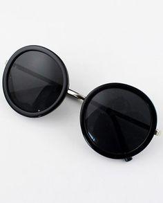 Black Round Lenses Sunglasses