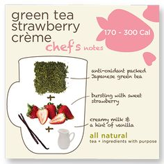 10% of proceeds from the sale of the Green Tea Strawberry Creme go to the Student Conservation Association.