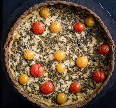 Quiche thon, tomates et basilic