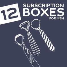 12 Cool Subscription Boxes for Men- get goodies delivered to your door every month with these great subscription boxes.