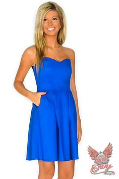 Lauren James Savannah Dress - Introducing the Savannah Dress, straight from the Lauren James fall collection! This strapless design features a sweetheart neckline, boning throughout the bodice, a full skirt, and pockets. This dress is perfect for a fall wedding, a dinner date or just shopping with the girls. Also available in navy, red, or crimson.  | available at http://www.envyboutique.us/shop/lauren-james-savannah-dress/ |  #Envy #Boutique #fashion #fashiontrends