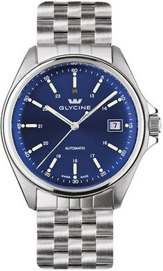 Glycine Watch Combat 6 Automatic 36mm #bezel-fixed #bracelet-strap-steel #brand-glycine #case-depth-10-45mm #case-material-steel #case-width-36mm #date-yes #delivery-timescale-1-2-weeks #dial-colour-blue #gender-mens #luxury #movement-automatic #official-stockist-for-glycine-watches #packaging-glycine-watch-packaging #style-dress #subcat-combat #supplier-model-no-3916-18-1 #warranty-glycine-official-2-year-guarantee #water-resistant-50m