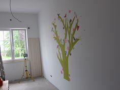 Tree kidsroom room idea Bird green