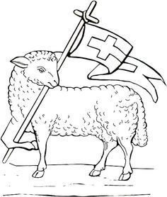 lamb of god colouring pages