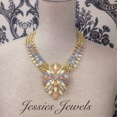 Gorgeous pastel coloured necklace from our SS15 collection collection.