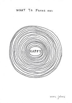 """What To Focus On...Happy."" - print by Marc Johns"