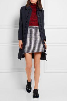 Miu Miu   Ruffle-trimmed wool-crepe coat   NET-A-PORTER.COM