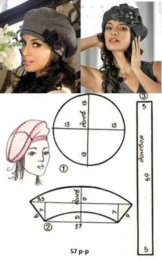 We sew easily and simply of drape . Sewing Hacks, Sewing Crafts, Sewing Projects, Sewing Clothes, Diy Clothes, Hat Tutorial, Turbans, Sewing Accessories, Hat Making
