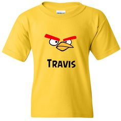 TurnTo Designs - Yellow ANGRY BIRD Vinyl with Custom Name Logo Number