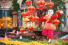 Chinese New Year Las Vegas at the Conservatory & Botanical Gardens at Bellagio Chinese New Year Decorations, New Years Decorations, 2015 Chinese New Year, Chinese Party, Las Vegas Attractions, Hotel Flowers, Super Cute Puppies, New Year Celebration, Conservatory
