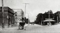 1910 view of the Buckhead Triangle.
