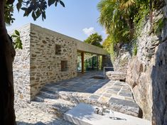 Wespi de Meuron Romeo uses stone and plaster for lakeside house