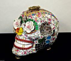 Kiss Me Hand Made Decorative Mosaic Skull Dia de Los Muertos China Ceramic | eBay