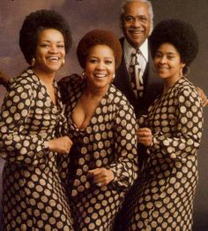 "The Staple Singers, consisting of Roebuck ""Pops"" Staples (R.I.P.), & his daughters Cleotha (R.I.P.), Pervis, Yvonne, & Mavis Staples. They are best known for their hits Respect Yourself, I'll Take You There, If You're Ready (Come Go with Me), & Let's Do It Again. Inducted into the Rock and Roll Hall of Fame and awarded the Grammy Lifetime Achievement Award."
