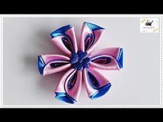 Today I will show you fast and easy way to make bouquet made from ribbon roses. --- Needed items: half of styrofoam ball, cardboard circle (16 cm diameter), ...