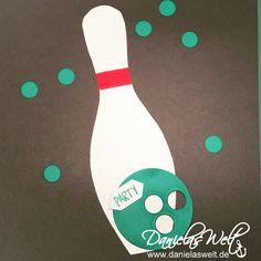 Danielas Welt: Einladungskarten zum Bowling