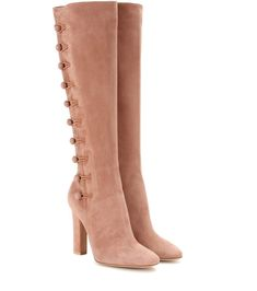 GIANVITO ROSSI Savoie Suede Knee-High Boots. #gianvitorossi #shoes #boots