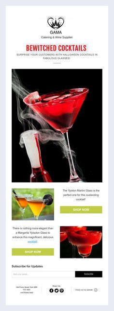 BEWITCHED COCKTAILS   SURPRISE YOUR CUSTOMERS WITH HALLOWEEN COCKTAILS IN FABULOUS GLASSES!