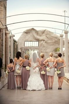 Neat picture idea!!   Neutral Bridesmaids Dresses - wedding at Hacienda Sarria - cool pic idea!