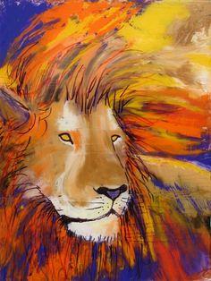 "Saatchi Online Artist: Diane Fairfield; Oil, Painting ""Lion of Judah"""