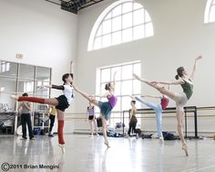Boston Ballet dancers in class and rehearsal