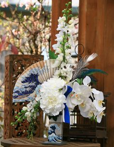 Floral arrangement Japanese Wave Bouquet  (there's things I don't like about it but I love the concept)