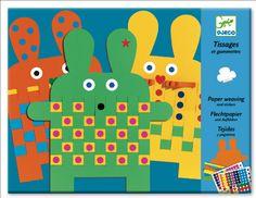 Djeco 6 papieren konijnen weven 3j #DIY #Paper #Rabbits from http://www.kidsdinge.com      https://www.facebook.com/pages/kidsdingecom-Origineel-speelgoed-hebbedingen-voor-hippe-kids/160122710686387?sk=wall  http://instagram.com/kidsdinge