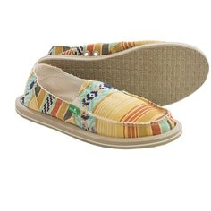 Sanuk Donna Shoes (For Women) in Dusty Yellow/Multi