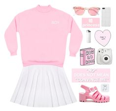 """I wish I'd been, a teen, teen idle..."" by ginaisanerd ❤ liked on Polyvore featuring JuJu, Fujifilm and Happy Plugs"